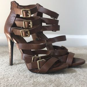 Brown 4 inch heels
